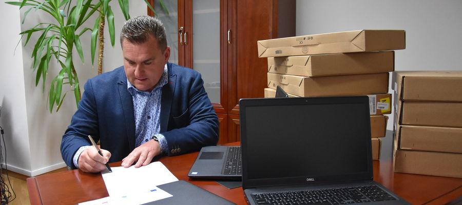 Wójt Gminy Lidzbark Warmiński Fabian Andrukajtis