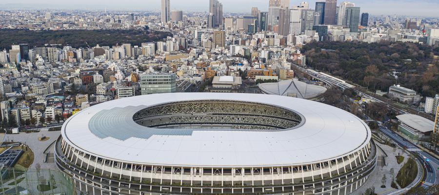 Japan National Stadium w Tokio - to tu odbędzie się ceremonia otwarcia i zakończenia igrzysk olimpijskich, a o medale będą walczyć m.in. lekkoatleci