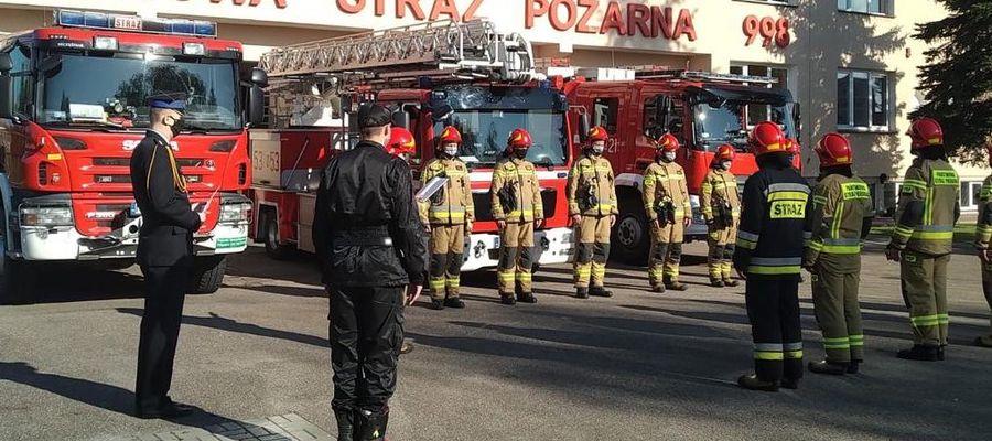Strażacy skromniej niż zwykle świętowali swoje święto