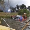 Chwile grozy na Jezioraku – przy Jażdżówkach tonęła łódź, a nad jezioro nadciągała silna burza