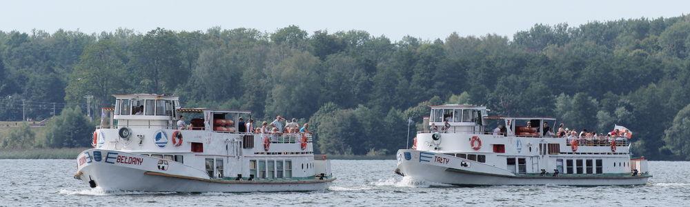 Statki Żeglugi Mazurskiej pływają już według rozkładu