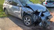 Zderzenie ciągnika rolniczego z autem osobowym