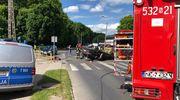 Wypadek w Morągu. Ranną kobietę zabrał helikopter LPR