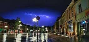 Burza nad starym miastem
