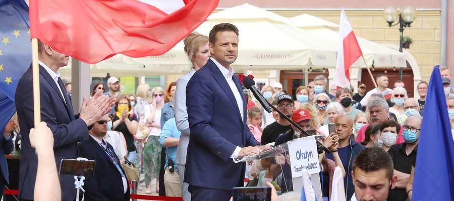 Rafał Trzaskowski w Olsztynie