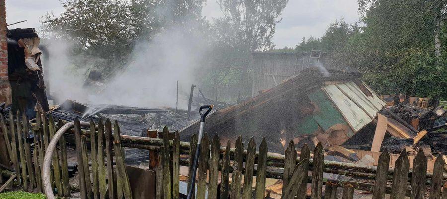 Drewniane budynki w Gardynach zostały całkowicie zniszczone przez pożar