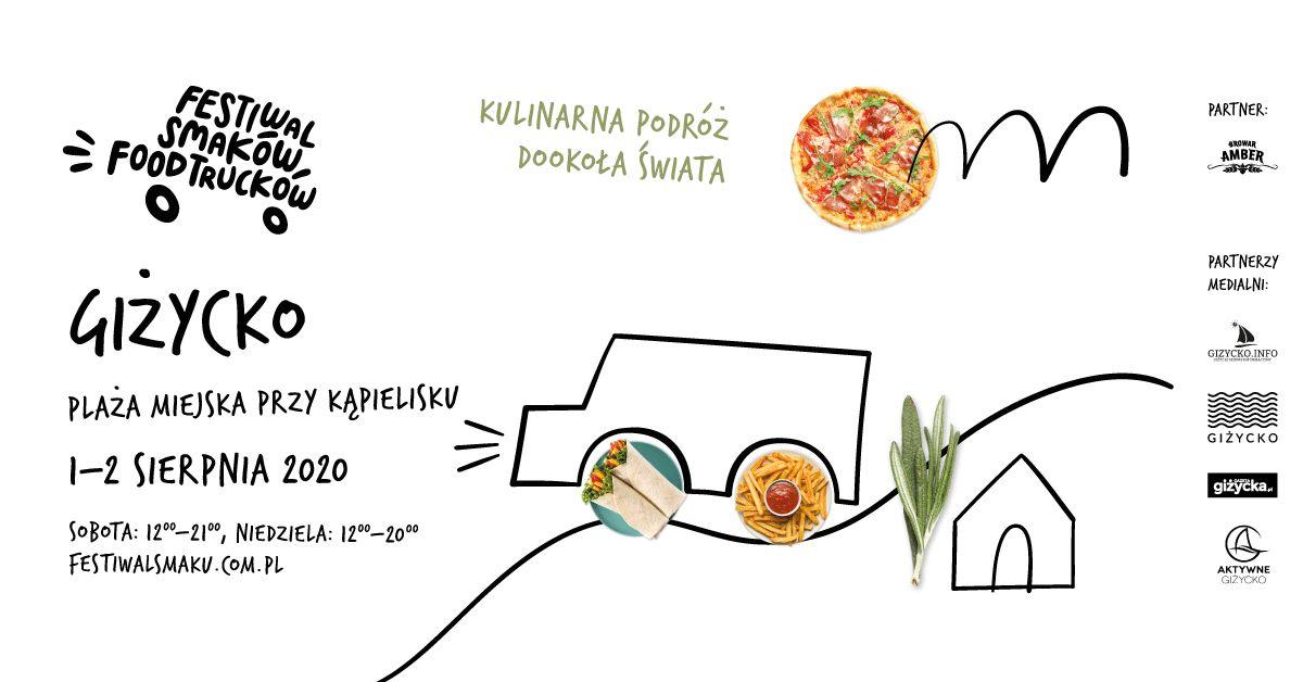 Festiwal Smaków Food Trucków w Giżycku już w ten weekend! Spotykamy się 1 i 2 sierpnia na plaży miejskiej przy kąpielisku.  - full image