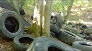Kilkaset zużytych opon i zbiorniki po paliwie. Nielegalne składowiska śmieci w gminie Purda [VIDEO]