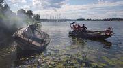Policja wyjaśnia przyczyny pożaru łodzi na Drwęckim