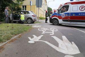 Potrącenie pieszego na ul. Jagiellońskiej w Olsztynie [ZDJĘCIA]
