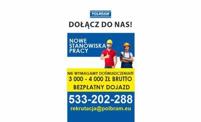 PRACA! Dołącz do ekipy POLBRAM-u