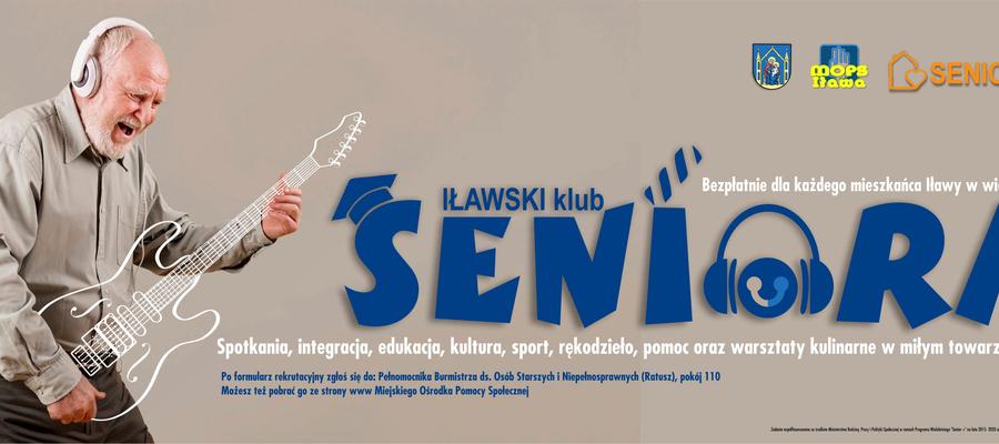 Grafika promująca Iławski Klub Seniora