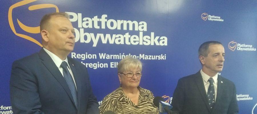 Od lewej: Michał Missan, Elżbieta Gelert i Jerzy Wcisła