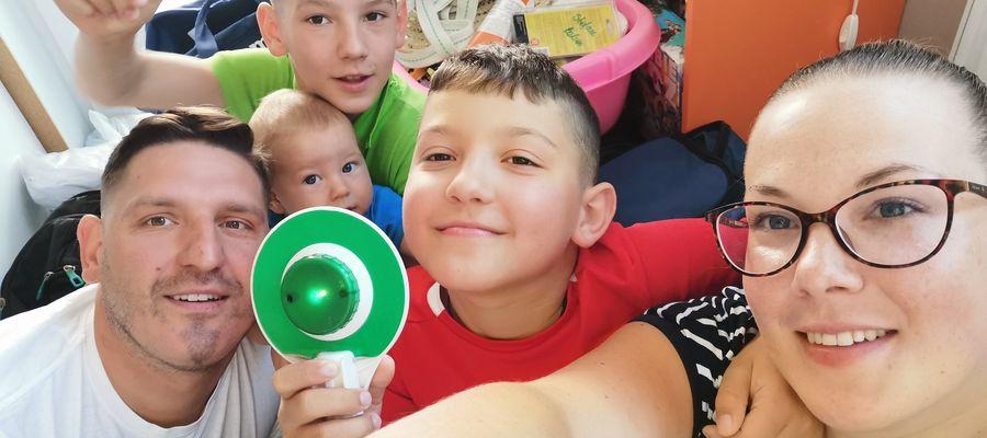 Dominik będzie najmłodszym uczestnikiem warmińskiej pielgrzymki. Będzie jechał w wózku w towarzystwie rodziców i dwóch braci