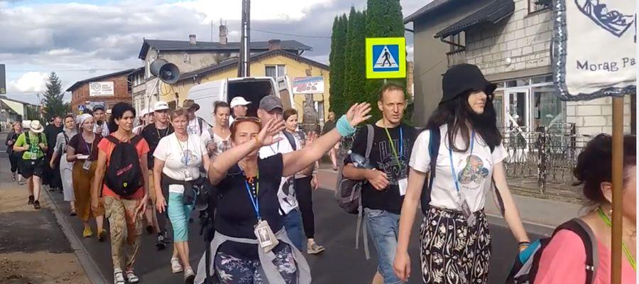 Pielgrzymi w Łąkorzu