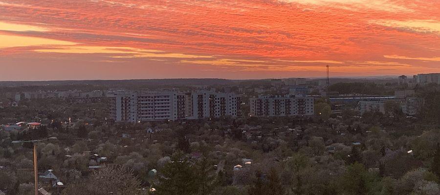 Widok z okna: Olsztyn, osiedle Nagórki