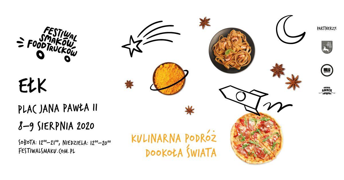 Food trucki przyjeżdżają do Ełku!  III Festiwal Smaków Food Trucków już 8 i 9 sierpnia na Placu Jana Pawła II. - full image