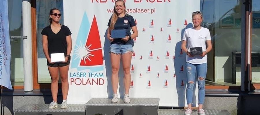 Agata Barwińska (MOS Iława) na najwyższym stopniu podium Pucharu Polskiego Stowarzyszenia Klasy Laser,