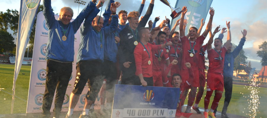 Drugoligowcy z Ostródy w Lidzbarku Warmińskim sięgnęli po Wojewódzki Puchar Polski