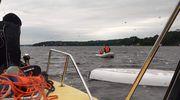 Poszukiwania zaginionego i interwencja przy wywrotce łodzi