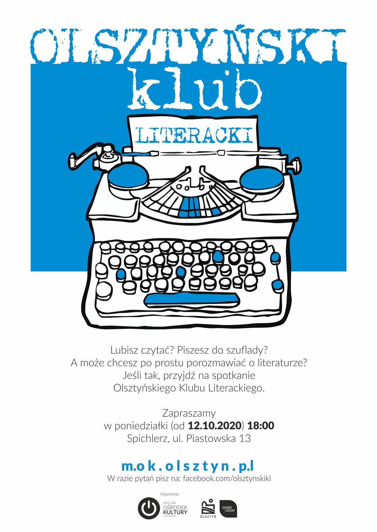 Olsztyński Klub Literacki wraca ze spotkaniami  - full image