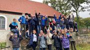 Uczniowie z Rożentala na wycieczce w Parku Krajobrazowym Wzgórz Dylewskich