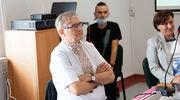Olgierd Łukaszewicz z wizytą w ukraińskiej szkole w Górowie Iławeckim