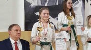 Cztery walki i Amelia Wojciechowicz na podium mistrzostw Polski juniorek młodszych w karate