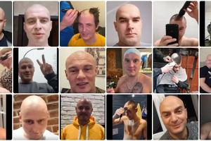 Koledzy ścięli włosy w geście wsparcia dla Krystiana