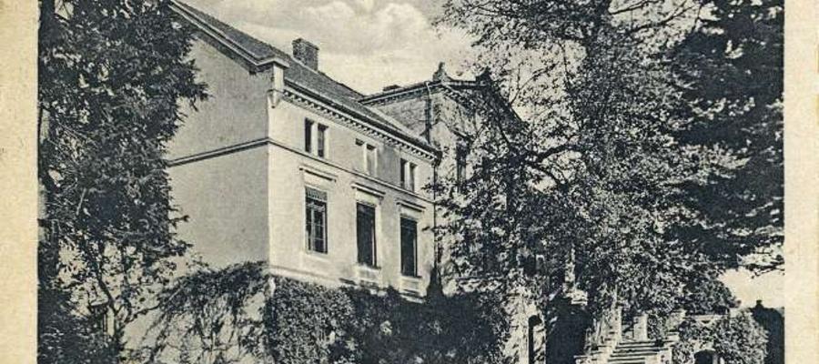 Tak pięknie wyglądał pałac w Limży w 1927 roku, kiedy tętniło w nim życie