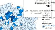 Cztery zgony i 18 nowych zakażeń w powiecie bartoszyckim