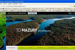 """Strona promująca Mazury z nominacjami """"Webstarfestival"""""""