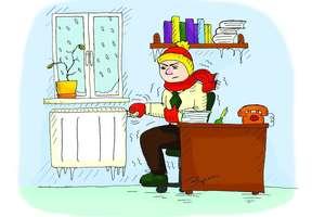 Zimowe warunki w pracy