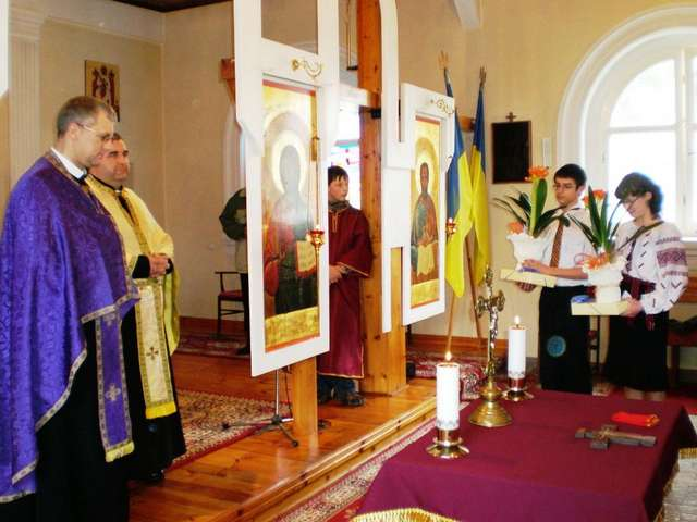 Banie Mazurskie: cerkiew greckokatolicka św. Mikołaja - full image