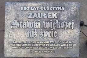 Zaułek Stawki większej niż życie w Olsztynie