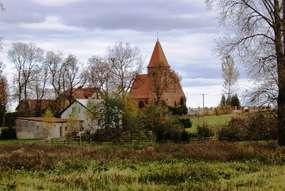 Kościół neogotycki w Olszewie Węgorzewskim (1903-1905)