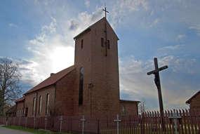 Ceglany kościół w Prawdziskach