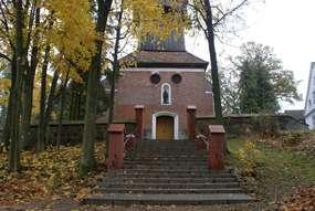 Barokowy kościół z XVIII wieku w Orzechowie