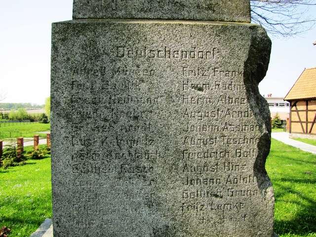 Wilczęta: pomnik poległych w czasie I wojny światowej - full image