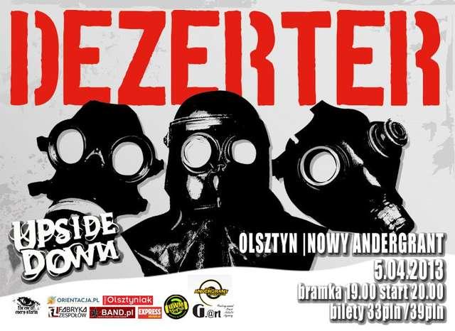 Dezerter w towarzystwie Upside Down w Olsztynie - full image
