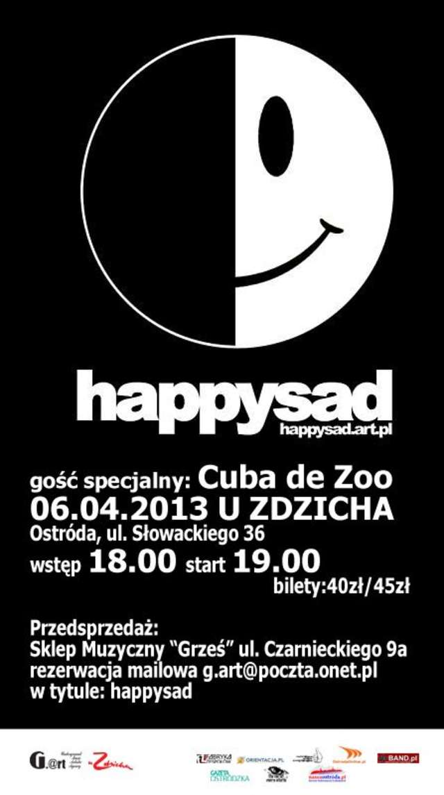 Happysad i Cuba de Zoo na scenie uZdzicha - full image