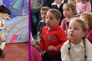 Pinokio odwiedził szkołę w Babkach Oleckich