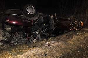 Wypadek na drodze między Lidzbarkiem Warmińskim a Ornetą