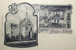 Dawna świątynia baptystów przy ob. ulicy 3 Maja (tzw. Zbór Elbing I), wzniesiona w 1896, zniszczona w 1945 r.
