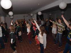 Tancerze podczas próby