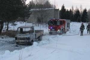Pożar auta w Botkunach w pow. gołdapskim