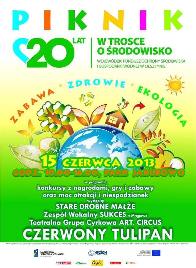 Zabawa - Zdrowie - Ekologia. Piknik w parku Jakubowo - full image
