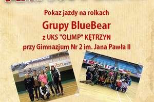 Pokaz jazdy na rolkach grupy BlueBear z kętrzyńskiego Gimnazjum nr.2