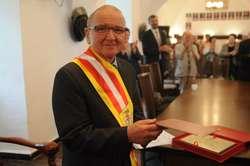 Witold Żak jest jedenastym honorowym obywatelem miasta i gminy Pasłęk
