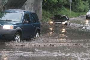 Problemy z wiaduktem na Lubelskiej. Wszystko przez burzę